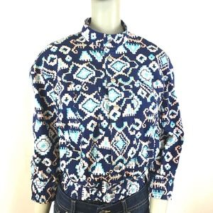 Levi's Southwest Print Cropped Snap Front Jacket